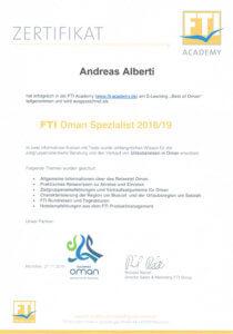Asia Live Kombireisen Andreas Alberti - Zertifikat Oman Spezialist