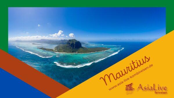Mauritius-das Reiseziel mit Strand, Meer und Berglandschaft